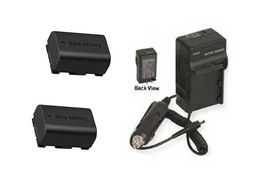 2 Batteries + Charger For Jvc Gz Hm300 Bu Gz Hm310 Gz Hm310 Bek Gz Hm320 Hm320 Bus - $35.87