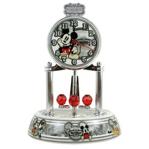 Disney Mickey Mouse Vintage Style Porcelain Glass Dome Anniversary Clock... - $68.30