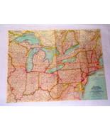 ORIGINAL Vintage 1959 Northeastern United States 19x25 National Geograph... - $18.49