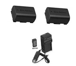 2 Batteries + Charger For Jvc Gz Hm320 U Gz Hm320 Bu Gz Hm320 B Gz Hm330 Gz Hm330 B - $35.88