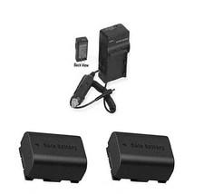 2 Batteries + Charger For Jvc Gz Hm450 B Gz Hm450 Bus Gz Hm450 Ru Gz Hm450 Rus Hm550 - $35.78