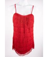 Flapper Halloween Costume Fringe Dress L Roaring 20s Red Dreamgirl Adult... - $24.74