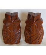 Palm Tree Salt and Pepper Shakers, monkey pod wood, Hawaii - $9.99