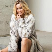 Women's Winter Luxury Fashion Faux Fur Coat