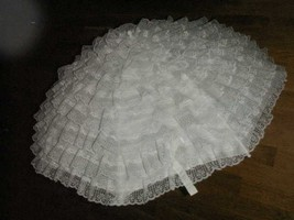 81.3 cm White Lace on silk bridal or baby shower umbrella - $40.23