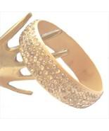 Vintage Celluloid  Rhinestone Bangle Bracelet - $49.99