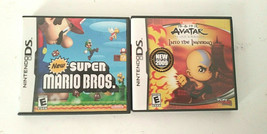 Nintendo DS Lot of 2 Games  New Super Mario Bros , Avatar The Last Airbe... - $24.74