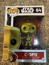 Funko Toys PoP Star Wars EP7 Force Awakens C-3PO droid Red Arm 4in. Figu... - $4.39