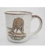 Vintage Otagiri Mug Giraffe Drinking White with Brown Speckles Made in Japan - £12.19 GBP