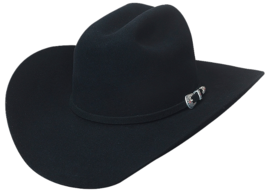 Bullhide True To The Game 10X Beaver Felt Cowboy Hat 3 Piece Buckle Set Black - $170.00