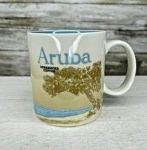 Starbucks ARUBA 16oz Mug Wind Surfer Turquoise Interior Global Icon Seri... - $27.69