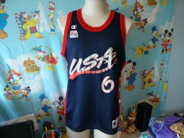 Vintage 90's USA Olympics Dream Team Penny Hardaway NBA Champion Jersey 44 - $59.39