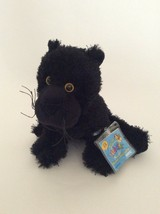 "Ganz WEBKINZ black PANTHER 8"" NEW UNUSED CODE plush stuffed animal - $12.19"