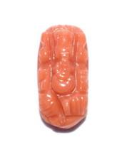 Lord Ganesha In Natural Coral / Coral Ganesha - 2.90 Carats - $75.00