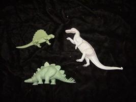3 Dinosaurs Play Set Figure Lot Vintage Playset Marx Playset - $33.99