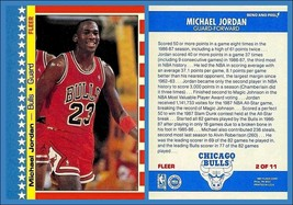 Lot Of 25 Reprint 1987 Fleer #2 Of 11 Sticker Michael Jordan Bulls - $9.50