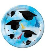 "Cap Toss Graduation Party Blue 8 ct  9"" Dinner Plates - $58,66 MXN"