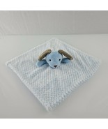OKIE DOKIE Blue Dog Puppy Brown Ears Security Blanket Lovey Plush Baby Soft - $79.19