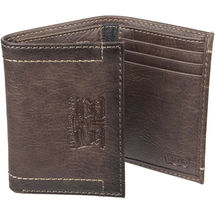 Levi's Trifold RFID Embossed Two Horses Logo Brown Credit Card Wallet for Men image 3