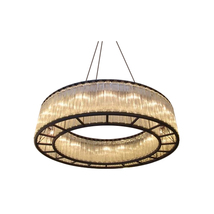 "AM3001: Estadio ""Ring Of Light"" Glass Chandelier (30""-98"" Diameter) $2,4... - $4,260.00"