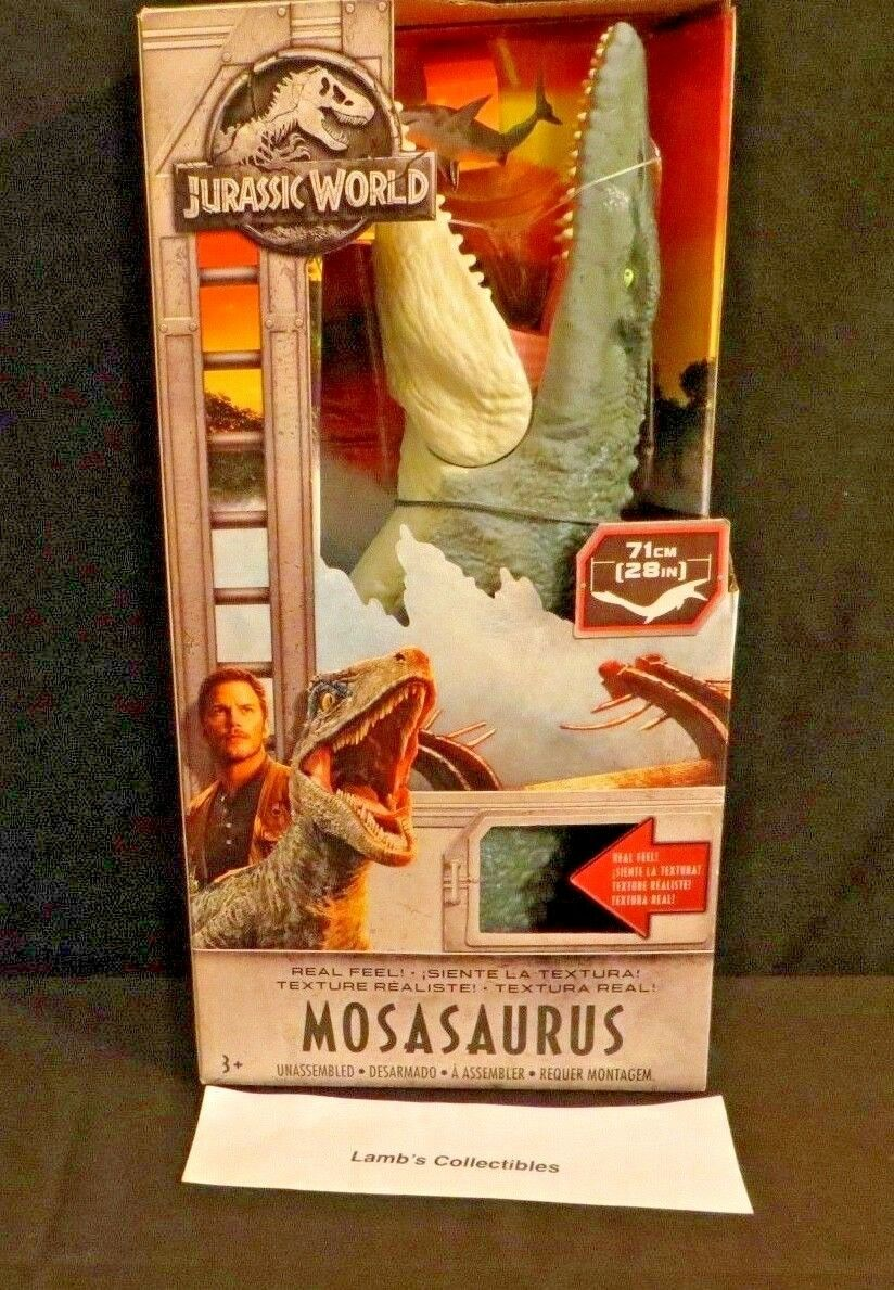 "Primary image for Jurassic World fallen kingdom Mosasaurus figure Mattel real feel texture 28"" toy"