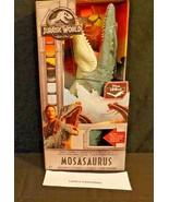 Jurassic World fallen kingdom Mosasaurus figure Mattel real feel texture... - $69.76