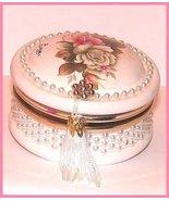 Italian Ceramic Wedding Powder Jar Trinkets Fav... - $19.99