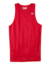 E3 Cherry Red L N9138 New Balance Men Tempo Running Singlet Muscle Tank ... - $7.10