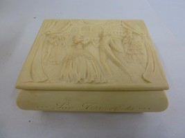 1960's Vintage Swiss Reuge La Traviata Carved Music Jewelry Box - $99.99