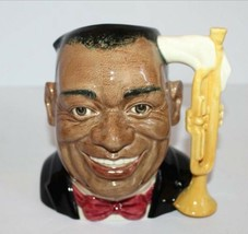"Royal Doulton Toby Jug - Louis Armstrong Large 8"" D6707 The Celebrity Co... - $97.02"
