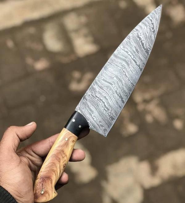 On Sale, Handmade Damascus Steel Chef Knife
