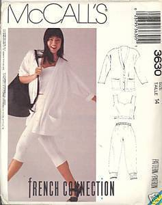 2000s French Connection Stretch Knits Jacket Pants McCalls 3630 Bust 36 Pattern McCall's