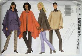6714 Butterick Misses Petite Poncho & Pants Size 6 8 10 NEW - $8.99