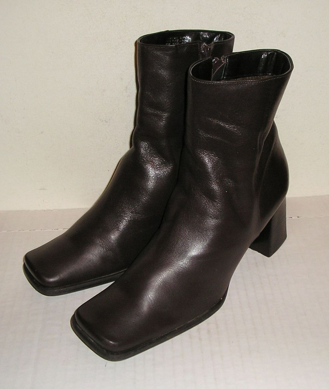 Nine west zamir women s brown leather dress ankle boots 9.5 m  1