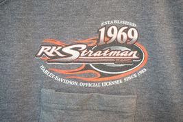 Harley RK Stratman Midweight Cotton T-Shirt, Gray, Men's 2XL 7721 image 3
