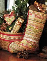 Cross Stitch Colonial Heritage Sampler Xmas Stocking Bellpull Ornament P... - $9.99