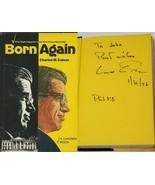 Charles Colson Signed 1976 Born Again Hardcover Book Watergate Nixon Hat... - $79.19