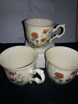 Margaux by Mikasa Cups (3) Rust Yellow and Purple Floral Margaux D1006 - $12.38