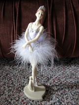 "Ballerina Statue Figurine in a Light Purple Dress 11"" x 3"" - $7.95"