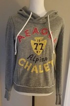 American Eagle Outfitters Hoodie Alpine Chalet Heather Gray Soft Cozy Wo... - $19.79