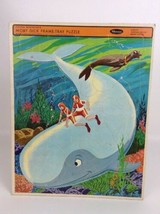 Moby Dick 4559 Hanna Barbera USA Whitman Frame Tray Puzzle Vintage 1968 - $26.68