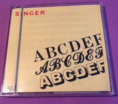 Singer NO.1 Embroidery Card Alphabets And Numbers Designs - $26.43