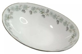 Noritake Oblong Serving Bowl Pinetta 5689 6.75x10 inches Pine Cone Design  - $39.19