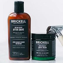 Brickell Men's, Smooth Brushless Shave Routine, Shave Cream and Aftershave, Natu image 4