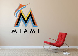 Miami Marlins MLB Baseball Team Wall Decal Decor For Home Laptop Sports - $104.45