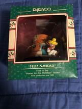 1989 New in Box - Enesco Christmas Ornament - Feliz Navidad - #564842 - $9.89