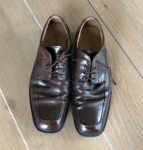 Florsheim Men's 8.5 EEE Dark Brown Leather Lace Up Oxford Derby Casual Shoes - $25.95