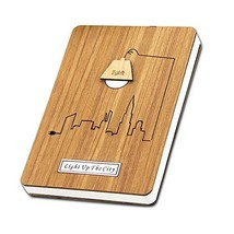Wood Hardcover Men's Journal Gift Men's Notebook Notepad Dotted, Squared... - $19.15