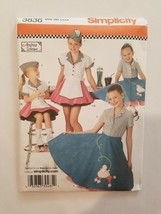 Sewing Pattern Girls Toddlers Clothing Sizes 3-4-5-6 Simplicity #3836 Co... - $7.70