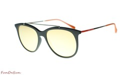 Prada Men Sunglasses PS02TS DG0137 Black Rubber/Orange Mirror Pink Lens ... - $183.33